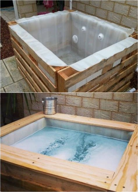 DIY Upcycled Pallet Hot Tub Pictures, Photos, and Images